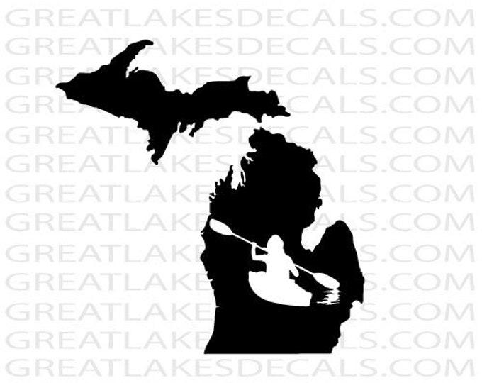 "Michigan 3/"" tall Great Lakes Vinyl Decal Sticker"