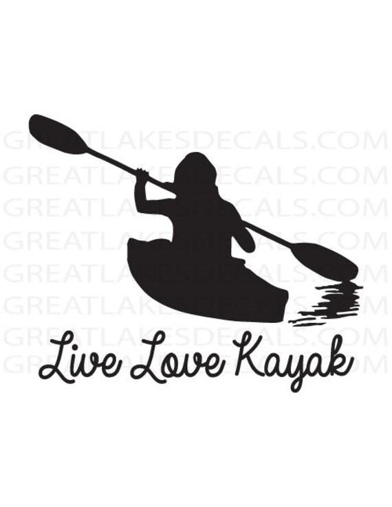 Paddle Like a Girl Kayaker Sticker Pink Kayak Kayaking Ocean Canoe Vinyl Decal