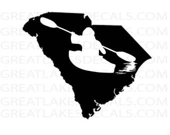 Kayak- South Carolina Vinyl Decal Sticker