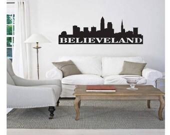Cleveland Ohio Wall Vinyl Decal Sticker
