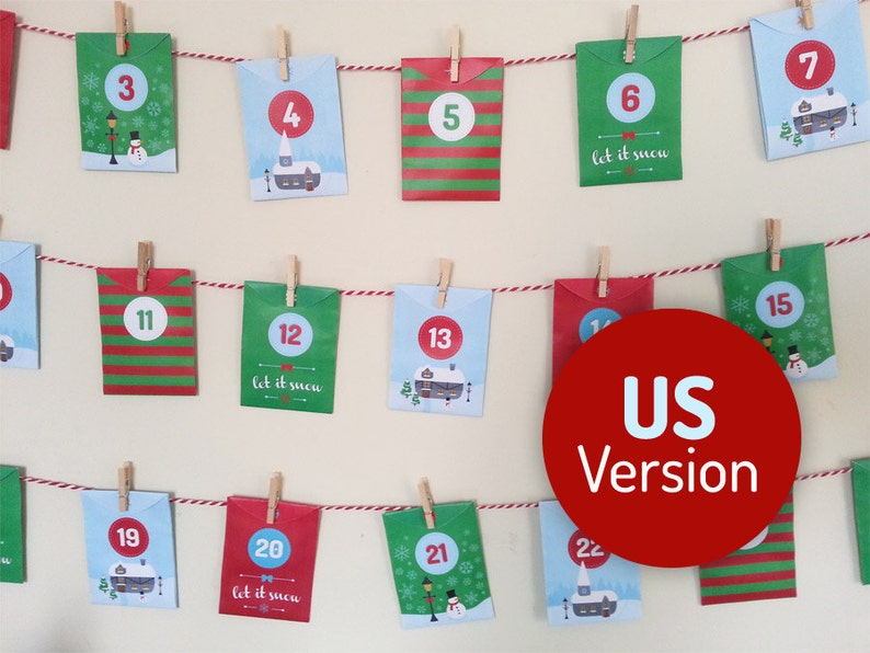 Acts of Kindness printable Advent Calendar US Version  24 image 0