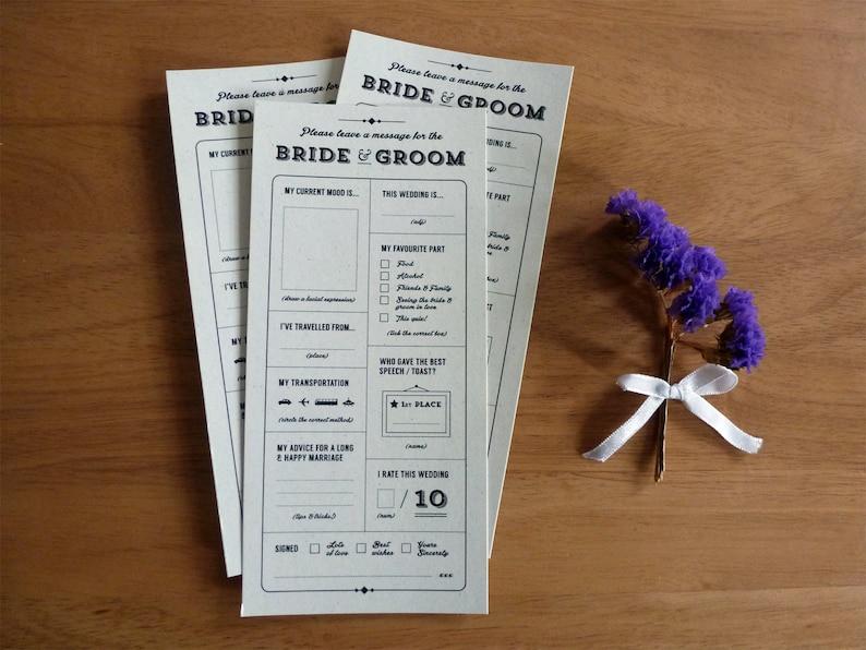 Printable Wedding Table Quiz & Survey  Alternative guestbook image 0