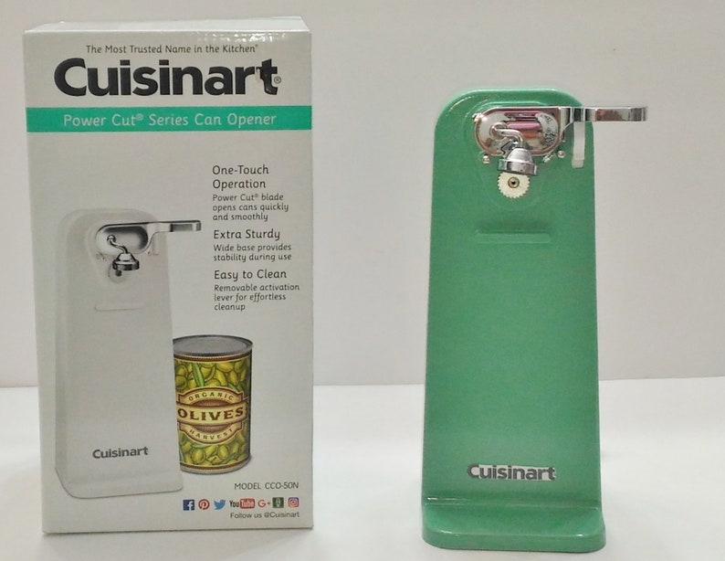 Jade Green Cuisinart Electric Tall Can Opener Jade Kitchen Etsy