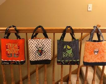 Halloween Custom Trick & Treat Bag with Machine Embroidery