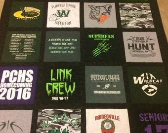 Custom T-Shirt Quilt Memory Quilt ~ Machine Quilted Memory Blanket