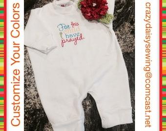 Baby Gift - Shower Gift - Baby or Toddler Romper Sweatshirt Jumpsuit