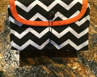Make-up Bag / Cosmetic Bag with Brush Roll