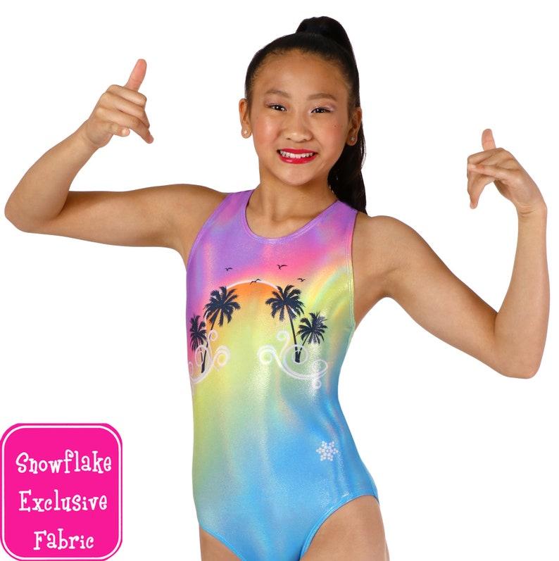 3f129089d Beach Sunset Gymnastics or Dance Leotards by Snowflake Designs