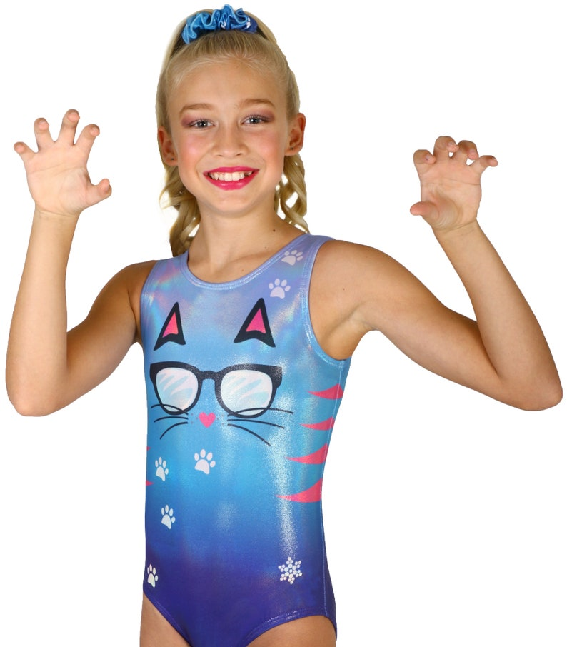 e03fcb581a08 Kool Kitty Sublimated Gymnastics or Dance Leotards by Snowflake Designs