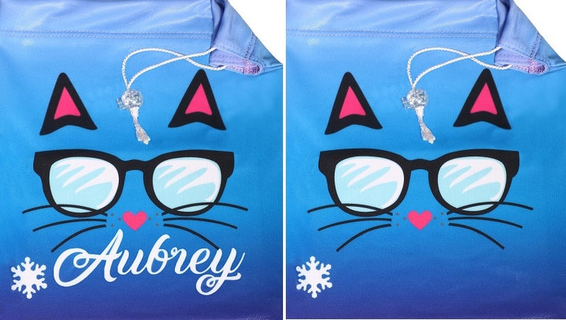 63af5e37bf1e Can be Customized with Name Snowflake Designs Kool Kitty Gymnastics Grip Bag  Sports & Fitness