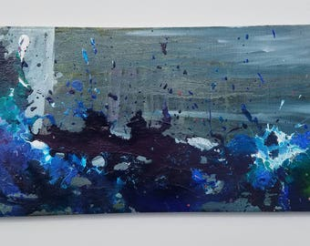 "Original Acrylic Abstract Painting- ""Turbulent Storm"""