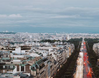 paris france fine art at sunset from above wall living room print photograph iceland photo deep fuji matte Teri B Photography france picture
