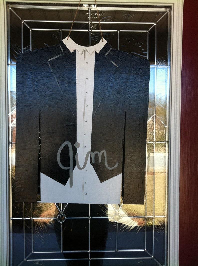 Guy Tuxedo Wooden Door Hanger