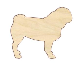 Wood pug cutout unfinished pug, craft dog craft pug craft project Wooden pug cutout Pugpalooza/'s unfinished Large pug cutout