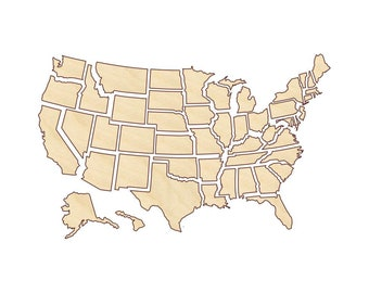 united states map cut out United States Photo Map Etsy