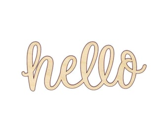 Hello Wood Word Sign - Wooden Words - 180135