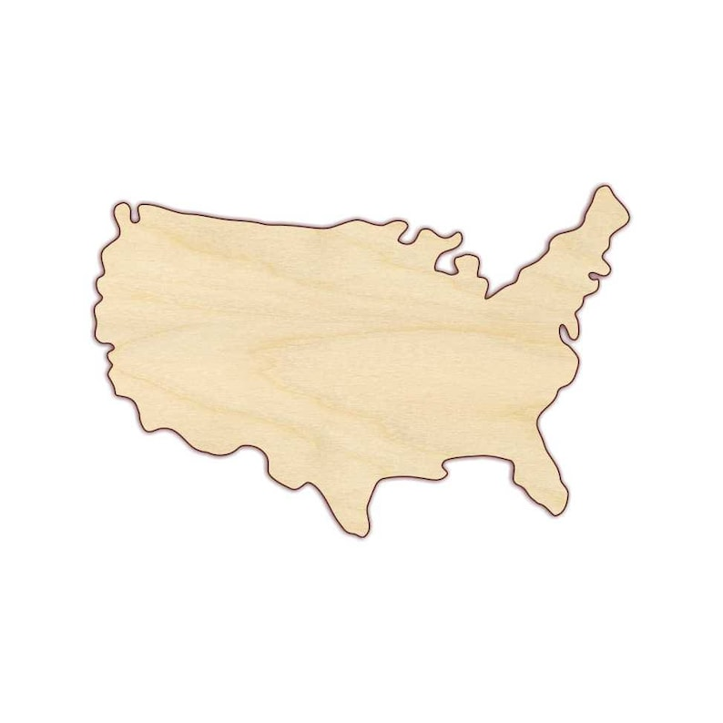 July 4-4th of July 170275 Independence Day USA Map Wood Cutout Fourth of July