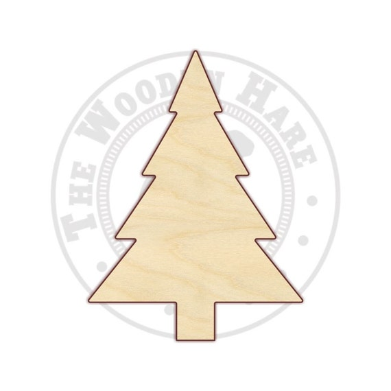 Christmas Tree Cutout.3 12 Christmas Tree Wood Cutout 170215 Unfinished Wood Various Sizes