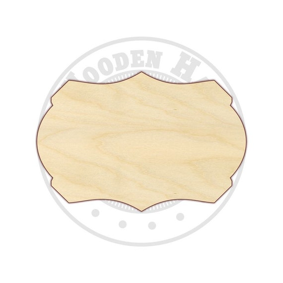 Wood Plaque Unfinished Laser Cut Wood Craft Cutout All Sizes Blank Plaque