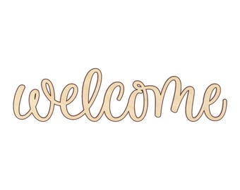 Welcome Wood Word Sign - Wooden Words - 180134