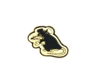 Rat, rat pin, pin, rat brooch, mouses brooch, mouse pin, lapel pin, enamel pin, punk, mouse, rodent, badges, backpack pin, rat jewelry