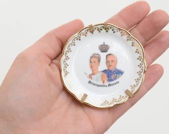 Grace Kelly, Monaco, miniature dish, trinket dish, ring dish, Monaco royalty, princess Grace kelly, prince Rainier,Grimaldi, Monaco souvenir