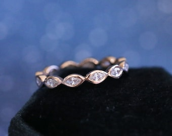 """The """"Laurie"""" Ring • Marquise Eternity Band Cremation Ash Ring"""