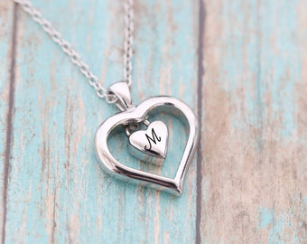 Stainless Memorial Double Heart Locket - Cremation Jewelry - Ash Necklace - Urn Necklace - Pet Memorial - Cremation Necklace - Ash Jewelry