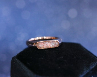 """Resin """"Brookelyn"""" Ring • Unisex Cremation Ash Band Ring"""