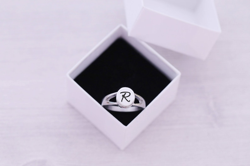 SIZE 6  Cremation Ring  Cremation Jewelry  Engraved Jewelry image 0