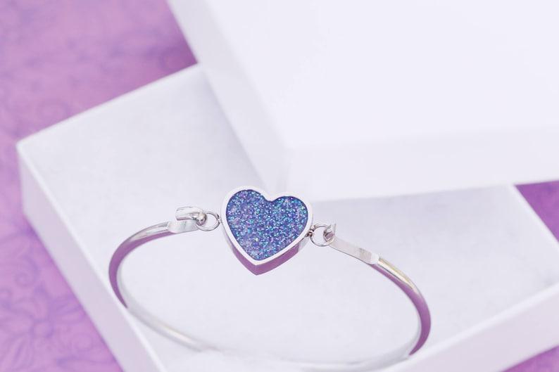 Cremation Bangle Heart Bracelet  Cremation Bracelet  image 0