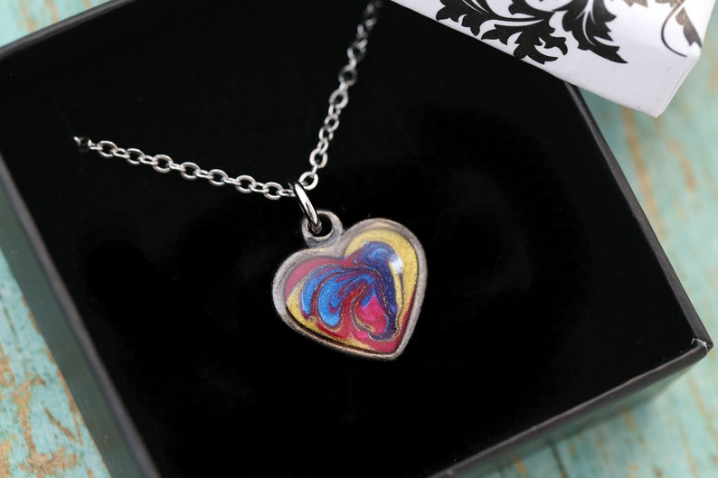 Cremation Necklace  Stainless Steel and Pewter Pendant image 0