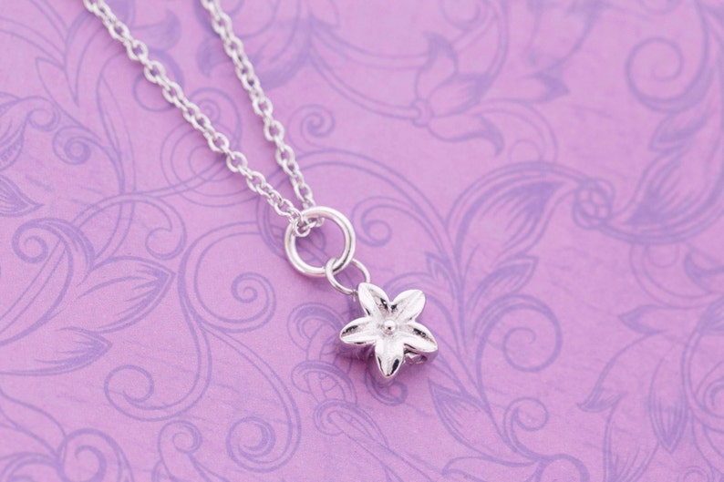 Tiny Stainless Steel Flower Urn Charm  For Ashes  Cremation image 0