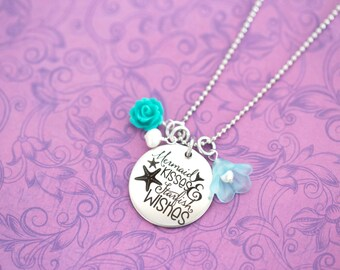 Mermaid Kisses and Starfish Wishes - I'm Really a Mermaid - Mermaid Necklace - Mermaid Jewelry - Custom Engraving