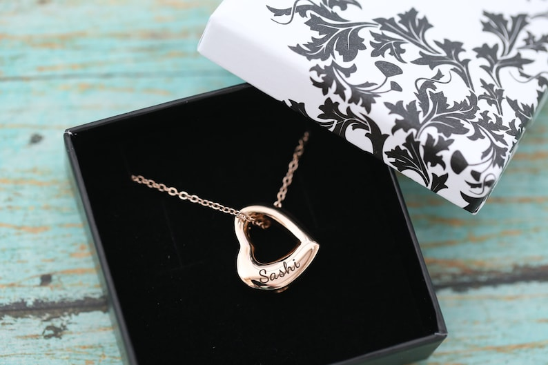 Rose Gold Open Heart Memorial Pendant  Cremation Jewelry  image 0