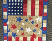 Patriotic Runner Stars and Stripes Fabric Kit