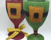 Christmas Wine Glasses - ...