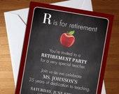 Teacher Retirement Party ...