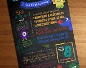 1st Birthday Chalkboard M...