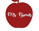 Teacher Apple Decal - Vin...