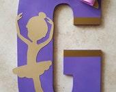 Ballerina Wooden Letter -...