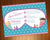 Spa Party Invite - Slumbe...