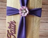 Wood Fabric Cross, Wood C...