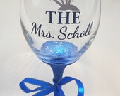 Wedding Wine Glass - Glit...