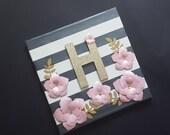 Letter Canvas - Floral Le...
