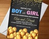 Gender Reveal Invitation ...