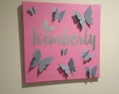 Custom Name - Butterfly S...