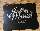 Just Married Sign - Weddi...