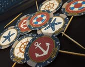 Nautical Cupcake Toppers ...