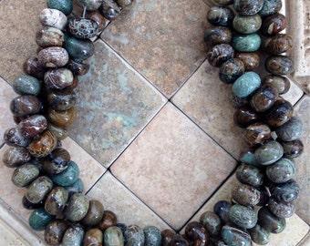 Reduced rondelle snakesin jasper beads